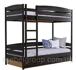 Двоярусне ліжко Дует Плюс Щит, з ящиками ДСП