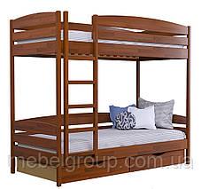 Двоярусне ліжко Дует Плюс Щит, з ящиками ДСП, фото 2