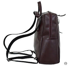 Женская сумка -рюкзак кожзам Case 656 бордо, фото 2