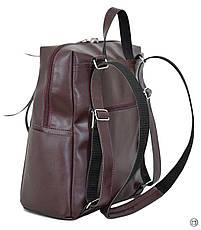 Женская сумка -рюкзак кожзам Case 656 бордо, фото 3