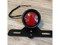 Задній фонарь LED HRE2 , фара-стоп для мото, кастом мото, каферейсер, універсальна, 12 В