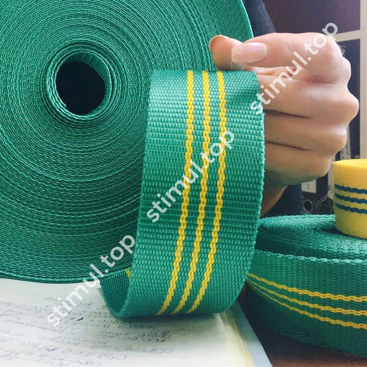 Лента полиэстеровая для строп 2 тонны х 50 мм х 50 метров ✓ Стропа текстильная полиэфирная зелёная