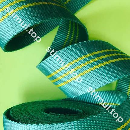 Лента полиэстеровая для строп 2 тонны х 50 мм х 50 метров ✓ Стропа текстильная полиэфирная зелёная, фото 2