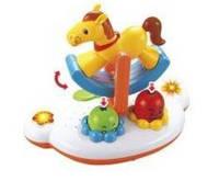 Развивающая музыкальная игрушка для малышей Карусель с лошадкой, C002