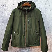 Мужская демисезонная куртка  BLACK VINYL TC18-1278.  Мужская куртка большого размера.
