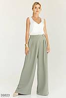 Широкие брюки оливкового оттенка UN