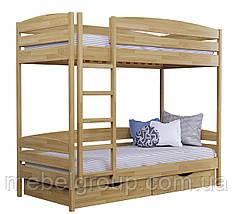 Двухъярусная кровать Дует Плюс Щит, с ящиками масив, фото 3