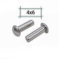 Заклепка алюминиевая 4х6 полукруглая DIN 660, фото 1