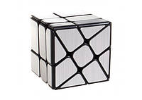Зеркальный кубик Рубика WindMill MoYu (Мельница) Серебро, фото 1