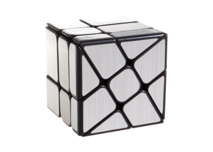 Зеркальный кубик Рубика WindMill MoYu (Мельница) Серебро