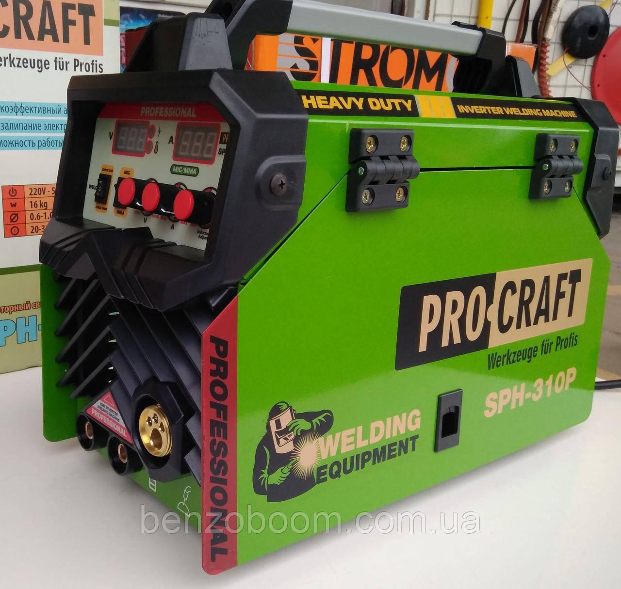 Инвенторный Сварочный полуавтомат Procraft SPH 310P сварка 2 в 1