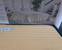 Вафельная Летняя Простынь Покрывало На Кровать Однотонное Евро Размер La Rita Желтая