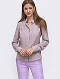 Блузка  с длинным рукавом и воротником-стойкой, фото 6