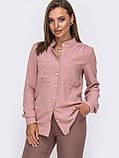 Блузка  с длинным рукавом и воротником-стойкой, фото 4
