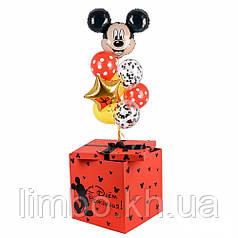Коробка сюрприз красная в стиле Микки Маус