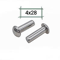 Заклепка алюминиевая 4х28 полукруглая DIN 660, фото 1