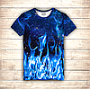 Футболка 3D Cosmos & Blue Fire