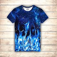 Футболка 3D Cosmos & Blue Fire, фото 1