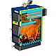 Твердотопливный котел Эталон КСТО-А 70 кВт с электронной турбиной и блоком управлением в комплекте, фото 4