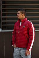 Стильная мужская демисезонная куртка красная с лампасом с 46 по 52 размер