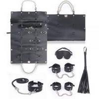 Набір для БДСМ ігор BDSM-NEW PVC Bondage Set, black