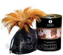 Съедобная пудра для тела с перышком Shunga Honey of The Nymphs, 228 гр