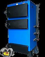 Твердотопливный котел длительного горения Эталон КСТО-98А с автоматикой в комплекте