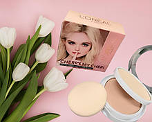 Пудра 2в1 L'Oreal Cherry My Cheri pressed powder with natural Minerals
