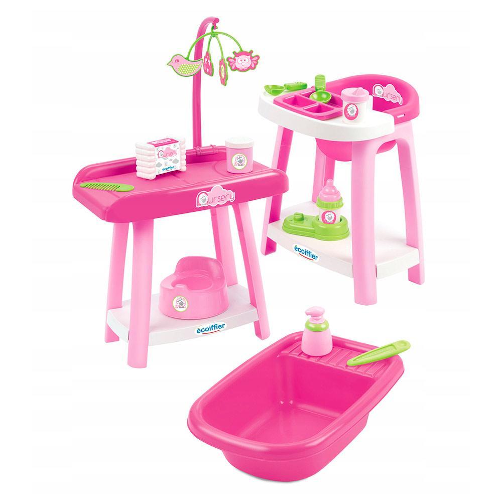 Игровой набор 3 в 1 по уходу за куклой Nursery Ecoiffier 002878