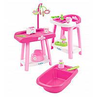 Игровой набор 3 в 1 по уходу за куклой Nursery Ecoiffier 002878, фото 1