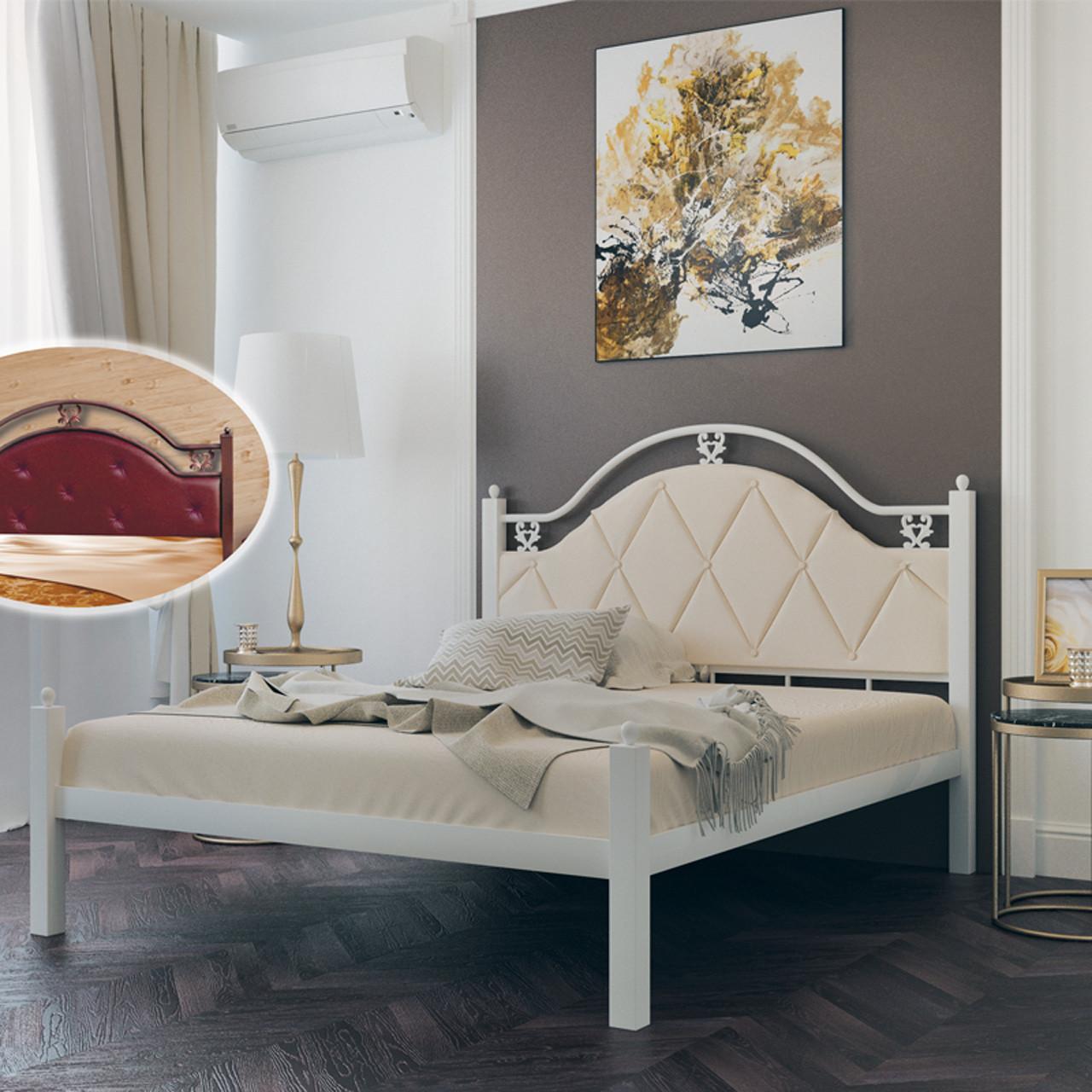 Ліжко металеве двоспальне Есмеральда