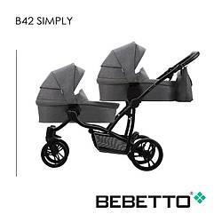 Детская коляска для двойни 2 в 1 Bebetto B 42 SIMPLY