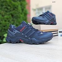 Мужские зимние кроссовки Adidas Swift Terrex (черные) ТЕРМО 3510