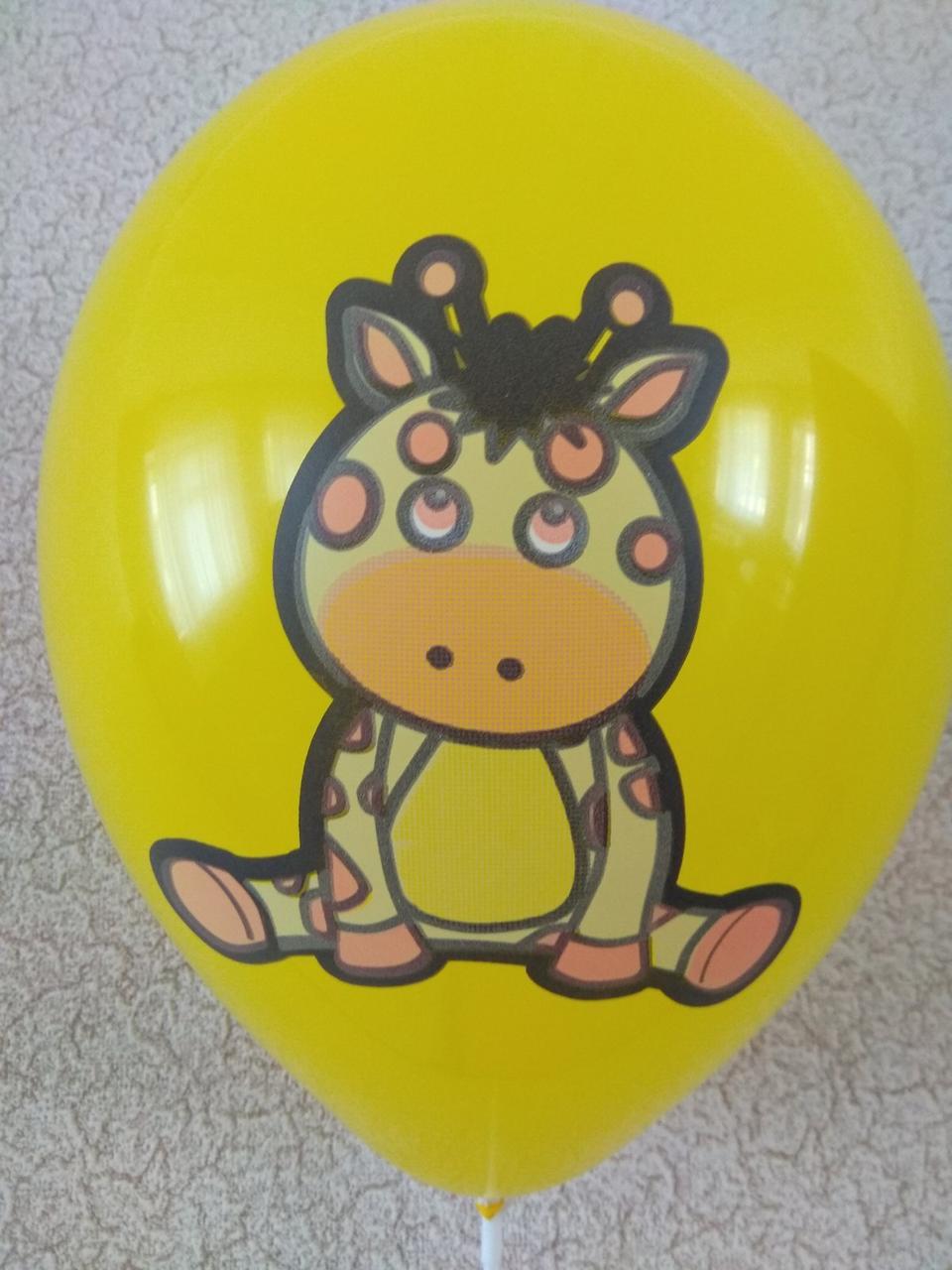"""Воздушные шары звери Жираф 12""""(30 см ) поштучно"""