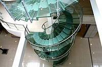 Перила из нержавеющей стали со стеклом
