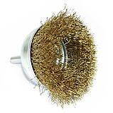 Щетка чашечная 6 х 75 мм по металлу и дереву из латунированной витой проволоки для ручных дрелей (Германия), фото 2