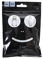 Usb юсб кабель для iPhone Lightning лайтнинг (кабель для зарядки айфона) 1 метр Hoco X13 2.4A (Микс)