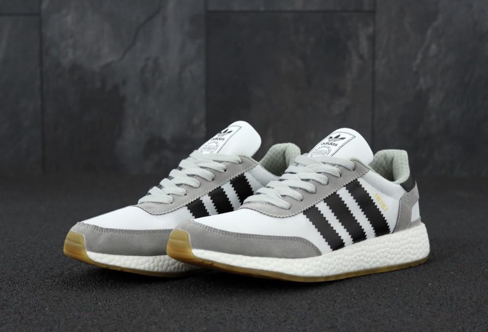 Чоловічі кросівки Adidas Iniki Сірі, Репліка