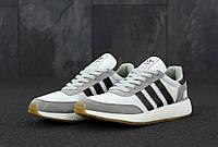 Чоловічі кросівки Adidas Iniki Сірі, Репліка, фото 1