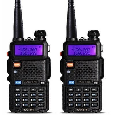 Комплект рацій Baofeng UV-5R Security 2шт ⇧ 5 Ват ⇧батарея 1800 мАч ⇧ГАРНІТУРА⇧136-174 / 400-520 МГц