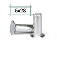 Заклепка алюминиевая 5х28 потайная DIN 661