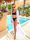 Женская стильная пляжная туника в пол, фото 5