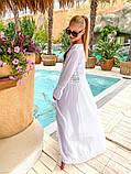 Женская стильная пляжная туника в пол, фото 6