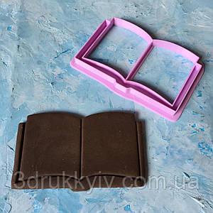 """Вирубка - формочка для пряників зі штампом """"Книга #3"""" / Вырубка - формочка для пряников """"Книга #3"""""""