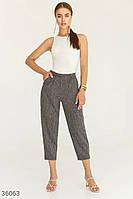 Укороченные брюки с защипами S M L XL
