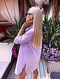 Жіноча красива пляжна котонові туніка - сорочка батал, фото 4