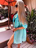 Жіноча красива пляжна котонові туніка - сорочка батал, фото 6