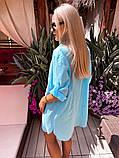 Жіноча красива пляжна котонові туніка - сорочка батал, фото 7