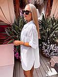 Жіноча красива пляжна котонові туніка - сорочка батал, фото 3