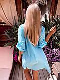 Жіноча красива пляжна котонові туніка - сорочка батал, фото 9